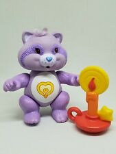 Vintage Care Bear Cousin Poseable Figure Bright Heart Raccoon Candle Accessory