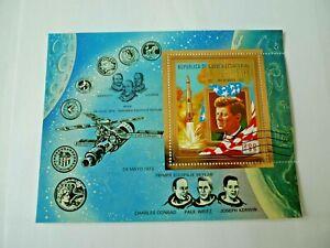 1973 WHOLESALE KENNEDY  EQUATORIAL GUINEA GOLD   SOUV. SHEET CTO # 73121 LOT 2a
