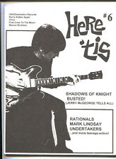 60s Garage Here 'tis Fanzine # 6  (Shadows Of Knight / Rationals / Mark Lindsay)
