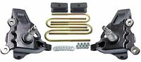 """3.5"""" Front Lift Spindles Ford F150 2"""" Rear Fabricated Steel Blocks 1997-03 2wd"""