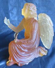 DAUM FRANCE NANCY PATE DE VERRE 02560 AMBER ANGEL GABRIEL ART DECO SCULPTURE
