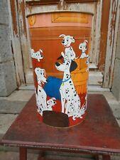 vintage/retro disney rubbish bin 101 DALMATIONS lever