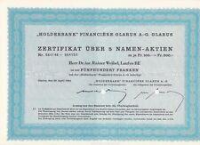 Holderbank Financiere Glarus AG, Glarus über 500 Franken - 22.04.1964