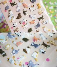 1 sheet x Puffy Cat Kitten Plastic Sticker