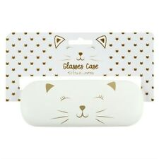 White Cat hard glasses case sunglasses case girls ladies present gift school