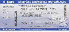 Ticket - Sheffield Wednesday v Bristol City 01.09.07 Directors Box