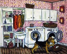 Airedale Terrier dog 8.5x11 art Print laundry room print poster
