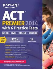 Kaplan ACT 2014 Premier with 6 Practice Tests: book + online + DVD + mobile (Kap
