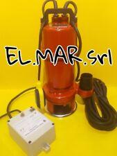 Elettropompa HP 1,5 KW 1,1 Sommersa Trituratrice Monofase Dilaceratore Paglia