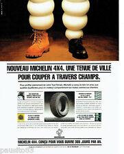 PUBLICITE ADVERTISING 1016  1994  les pneus  pour 4x4  Michelin