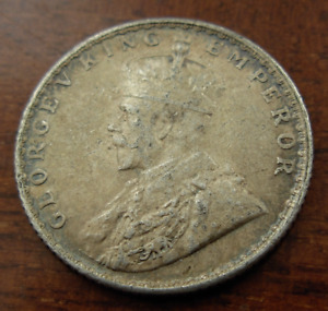 India 1936 Silver 1/4 Rupee UNC George V