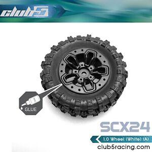 1/24 Scale 1.0 Custom Wheels ( A ) for SCX24 ( 4 Pcs Set, 7mm Hex )