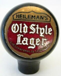 HEILEMAN'S OLD STYLE LAGER ~ HEILEMAN BREWG CO ~ LACROSSE ~ WIS ~ BALL TAP KNOB