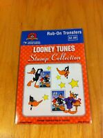 1999 Looney Tunes Stamp Collection (Package Contains 4 Rub-On Transfers)~New *
