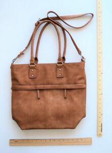 A and  I Brand Large Camel Tan Brown Shoulder Tote Ladies Bag Purse - FLASH SALE