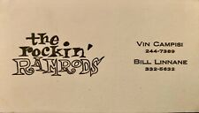 THE ROCKIN' RAMRODS -RARE BUSINESS CARD SIGNED BY THE BAND FROM MASSACHUSETTS