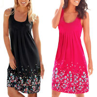 Summer Women's Boho Sleeveless Beach Midi Dress Casual Floral Sundress S-XL Hot
