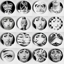 Illustration Hanging Dishes Black and White Cavalieri Face Ceramic Home Decor