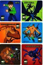 6 x Square Stickers ~ Ben 10 Big Chill Spidermonkey Humungousaur Cartoon Hero ~