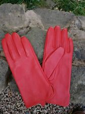 Next Red Lðather Gloves Size M