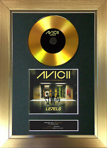 GOLD DISC AVICII Levels Signed Reproduction Autograph Mounted Print A4 168