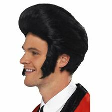 Adult Mens 50s Rock n Roll Teddy Boy T Bird King Quiff Wig Fancy Dress Accessory