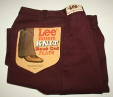 LEE Riders Knit Boot Cut Flare Jeans, Maroon, W28-L31, NWT, USA Made