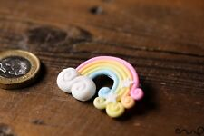 Lovely Handmade Rainbow Brooch Cloud Star Accessorise Pink Yellow White Gift