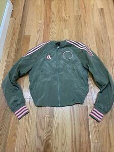 Women's Adidas Originals VRCT Woven Jacket Legacy Green FI6720 Size XS