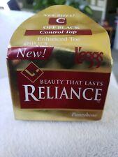 L'eggs Reliance Size C Control Top Enhance Toe Pantyhose Off Black 1996 vintage