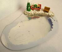 Grandeur Noel Christmas Victorian Miniature Village Ice Rink Set 1995 Vintage