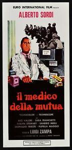 locandina IL MEDICO DELLA MUTUA dottor tersilli Alberto Sordi ospedale film N46