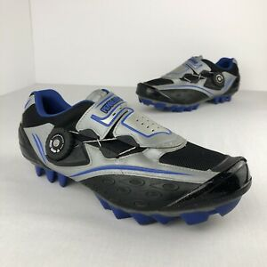 Pearl Izumi Women's Cycling Shoes Boa Laces Size 9.5 US Silver Blue Black Road