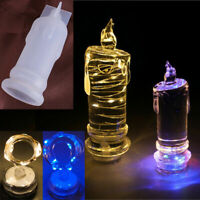 Silicone Soft Candle Light Making Mold Wax Resin Casting Epoxy DIY Mould ll7