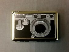 Vintage Retro Camera Image Cigarette Case with lighter ID Holder Wallet D 01