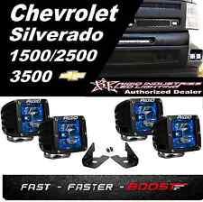 Rigid Radiance Pod Blue & Fog Light Mount Kit For Silverado 1500 2500HD 3500HD