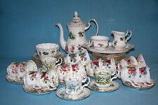 ROYAL ALBERT ' FLOWER OF THE MONTH ' COFFEE SERVICE