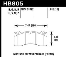 Hawk for 15-17 Ford for Mustang Brembo Package HP Plus Front Brake Pads - hawkHB