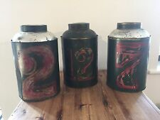 Set of 3 Vintage tea tins / Antique tins / vintage metalware