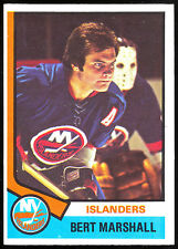 1974-75 OPC O PEE CHEE HOCKEY #177 BERT MARSHALL NM N Y NEW YORK ISLANDERS CARD