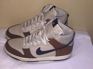 Nike Dunk High Premium Rustic Ostrich Beige Blue Brown 316424-241 Size 9