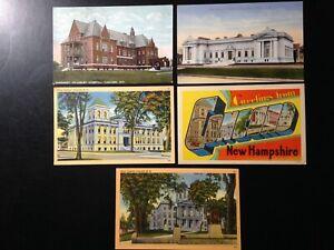 0143 10 Postcard lot, New Hampshire, Concord, Cranmore Mountain, Mt. Washington,