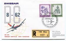 FFC 1974 Swissair First Flight DC 8 62 Wien Bombay Bangkok Hongkong REGISTERED
