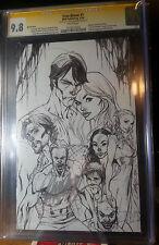 True Blood #1 CGC 9.8 SS J. Scott Campbell RI B&W Virgin Sketch Cover