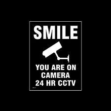 CCTV Window Sticker, Sign - 150mm x 200mm (A5) - Security, Camera, (MISC35)