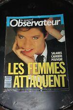 Le Nouvel Observateur N1253 1988 SALAIRES CARRIERES POUVOIR LES FEMMES ATTAQUENT
