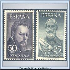 España Correo Aéreo n. 262/263 Certificado FARE OFRECE