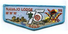 OA FLAP NAVAJO LODGE 98 WWW 75TH ANNIVERSARY NOAC BOY SCOUT PATCH 1990