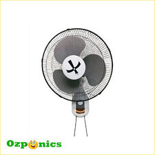 2x Growlite High Quality Hydroponics 400mm 3 Speed Wall Fan With Stand