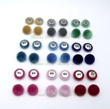 Set 8 Velvet fabric Buttons 15mm. Garment accessories Toys Clothes Craft Party